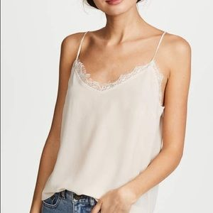 Lush white tank with lace detailing